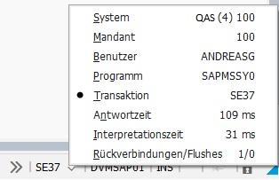 Besten SAP GUI Features - Informationen in der Fußzeile SAP GUI