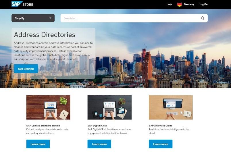 Landing Page u. Detailpage des SAP Store