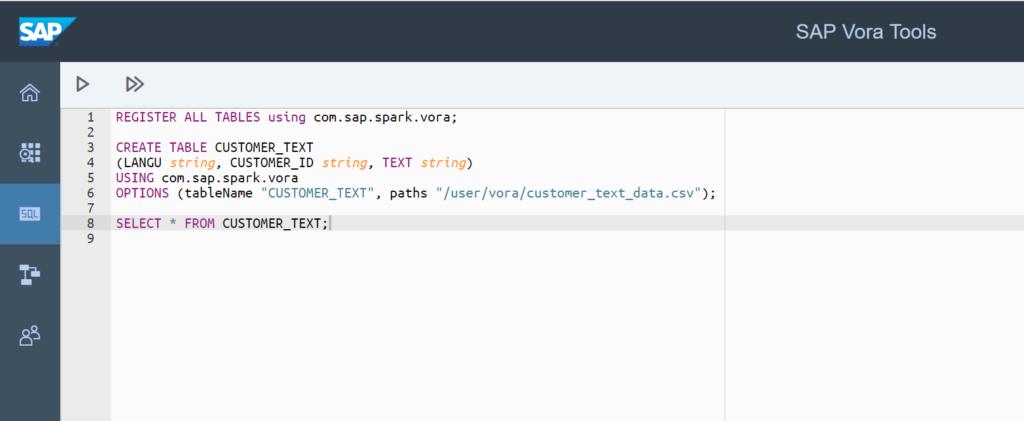 SAP Vora SQL Editor