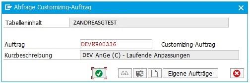 Änderungen werden in einem Customizing-Auftrag gespeichert, wenn in der SCC4 die Einstellung aktiviert wird.