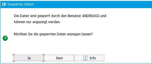 Anzeige für Tabellensperren in SAP ERP