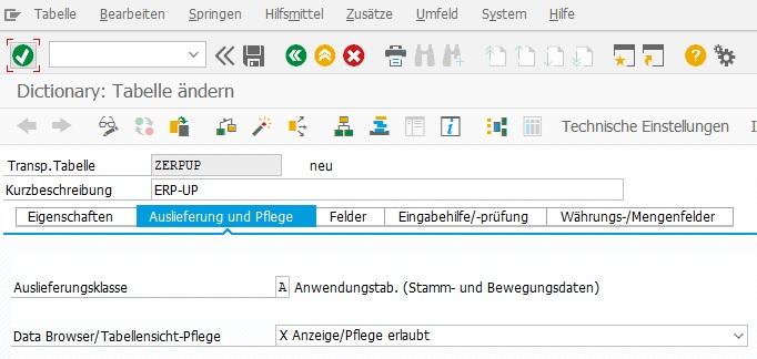 Für eine Pflege-View in SAP ERP muss die Anzeige/Pflege erlaubt sein. Das kann im ABAP Dictionary (SE11) eingestellt werden.