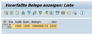 Diese Belegnummer kann man einfach in der Transaktion FBV3 angeben. Wird der Beleg letztlich dort angezeigt, so weiß man, dass die Rechnung vorerfasst ist.