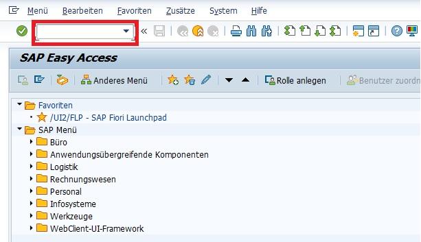 Im SAP GUI gibt es ein nützliches Feld, das nahezu jeder SAP-Anwender verwendet: OK-Code-Zeile. Es wird oft auch als OK-Code-Feld oder Kommandofeld bezeichnet. Mit Ausnahme von PopUps ist das Feld in jeder Transaktion in der Menüleiste verfügbar. Vor allem für die Eingabe von Transaktionscodes ist es enorm nützlich.  Aber auch für die Eingabe von Shortcuts ist das OK-Cod-Feld sehr nützlich. Welche nützlichen Shortcuts man mit der OK-Code-Zeile verwenden kann, wird in diesem Artikel aufgelistet.