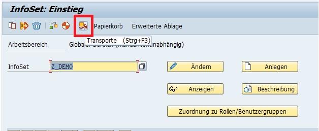 """Öffnet man nämlich in der Transaktion SQ02 das Standard-Transport-Tool, in dem man auf """"Transporte"""" klickt bzw. """"Strg+F3"""" drückt, bekommt man nicht wirklich eine Funktion, um SAP Querys zu transportieren."""