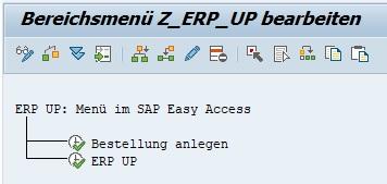Anschließend sind die ausgewählten Transaktionscodes im Bereichsmenü eingetragen. Man kann diese in weitere Ordner hinzufügen. So kann man die wichtigsten SAP Basis Transaktionen einfach und schön gruppieren.
