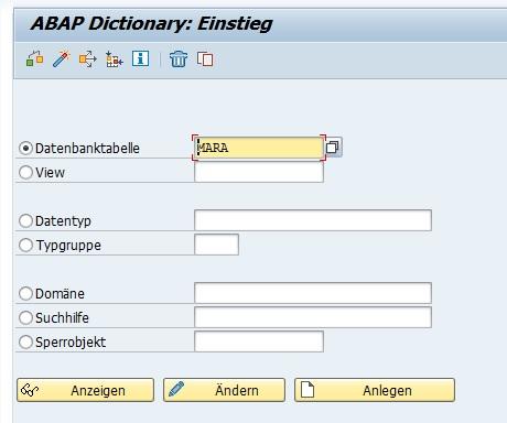 Nach Doppelklick auf den Tabellennamen wird man sofort die ABAP Dictionary aufgerufen mit dem Tabellennamen, auf den man doppelt geklickt hat. So kann man sich alle Tabellen in SAP ERP anzeigen lassen, ohne direkt eine Berechtigung für die SE16 bzw. SE16N zu benötigen. Und das super einfach und schnell.