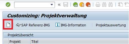 """Um nun ein Projekt anzulegen, drückt man in der Projektverwaltung auf den Button """"Projekt anlegen"""" oder die F5-Taste."""