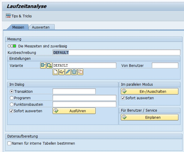 Die Transaktion SAT ist eine der besten Möglichkeiten, eine ABAP-Laufzeitanalyse durchzuführen. Performance-Analyse leicht gemacht.
