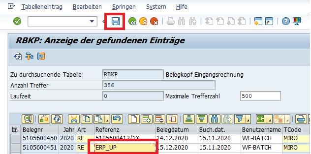 """Die im Anschluss angezeigten Datensätze sind nun änderbar und können direkt im Data Browser geändert werden. Hierfür ändert man einen Wert und drückt auf den Speichern-Button oder """"Strg + S""""."""