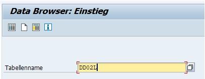 Mit dem Transaktionscode SE16 ruft man den alten Data Browser auf. Hierbei muss man direkt beim Einstieg die Tabelle angeben. Über diese Transaktion können direkt neue Datensätze angelegt werden.
