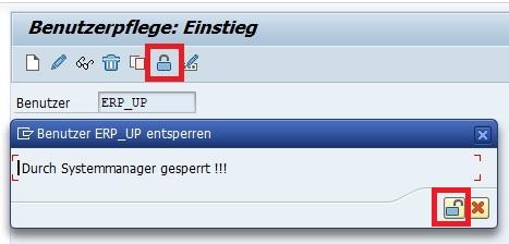 """Sobald man herausgefunden hat, dass ein SAP-Benutzer gesperrt ist, kann man ihn einfach und schnell über die Transaktion SU01 und den Button """"Sperren / Entsperren"""" oder die Tastenkombination """"Strg + F5"""" entfernen."""