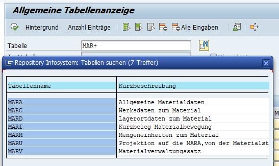 Weiß man als Beispiel nur den letzten Buchstaben einer Tabelle nicht, so kann man die Eingabe mit einem Plus (+) maskieren. Wie beim Sternchen kann man das Plus auch in den Selektionskriterien benutzen, um die Ausgabe einzugrenzen.