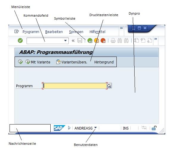 Die SAP GUI enthält viele Funktionen.